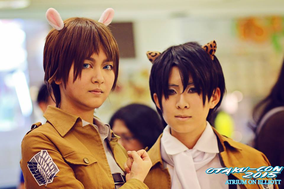 Cos-players of 'Attack on Titan'