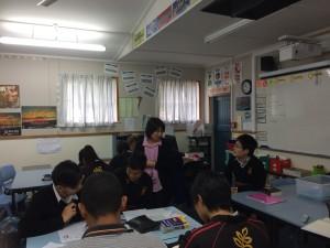 Kaori & students