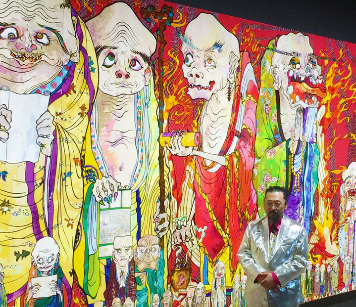 Murakami's new work on display