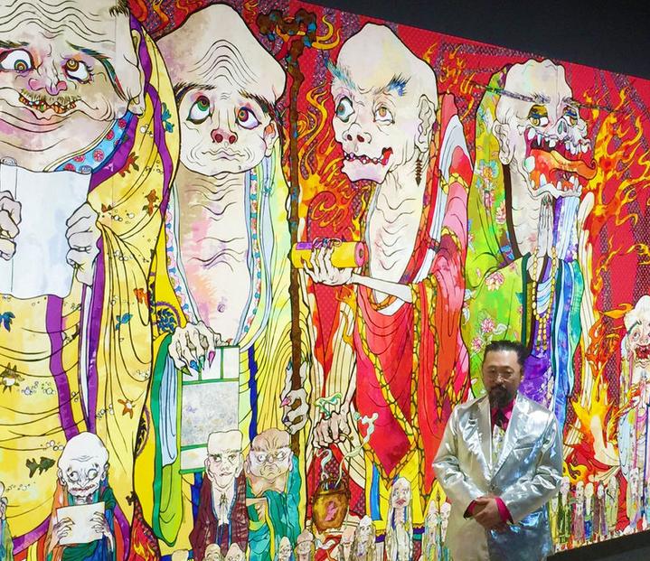 Murakami's new work on display