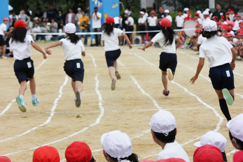 Sports day in Japanese school