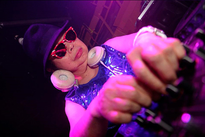 Introducing 82 year old Sumiko Iwamuro…..Dumpling chef by day….Superstar DJ by night!