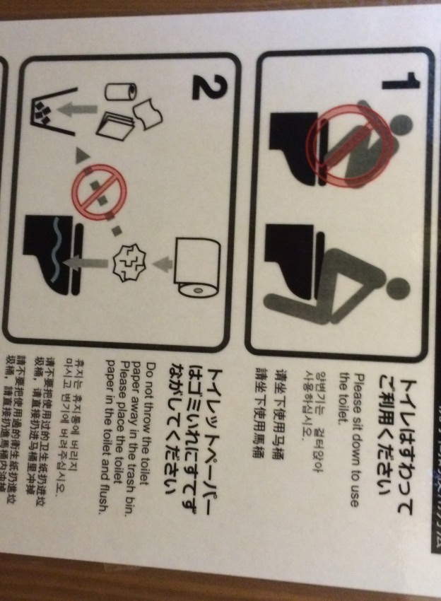 Japanese toilets for foreign visitors