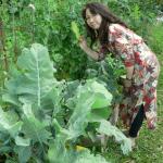 Mio in the garden