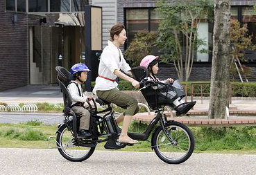 Riding bicycles in Japan